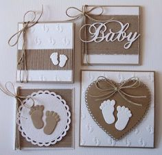 Ideas to use on baby scrapbook page