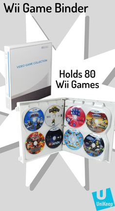 UniKeep's Wii Themed Video Game Case holds 80 total games inside a cool, digitally printed binder. Video Game Organization, Video Game Storage, Anime Couples Manga, Cute Anime Couples, Anime Girls, Kingdom Hearts Ps4, Wii U Games, Video Game Collection, Mega Man