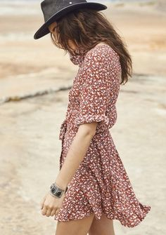 The Open Road All Things Good Play Dress Baby Blooms Maroon