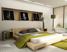 Modern Japanese Bedroom Decorating Design Ideas with Abstract Graffiti Wall Pictures Art Fresh and Modern Bedroom Interior Design for Teenagers Boys and Girls