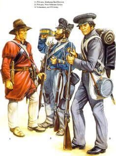 Volunteer Militia to The Alamo Mexican Army, Mexican American War, American Civil War, American History, Military Art, Military History, Military Uniforms, American Uniform, Wyoming