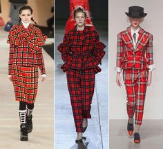 Fall/ Winter 2014-2015 Print Trends: Checkered Patterns  #trends #fashion #prints