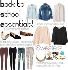 """Back to School Essentials"" by nadrajalaluddin on Polyvore"