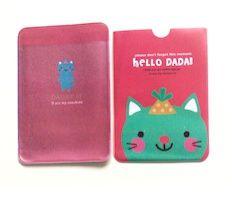 Kat met feesthoed pashoesje card holder kawaii nederland cute schattig rilakkuma