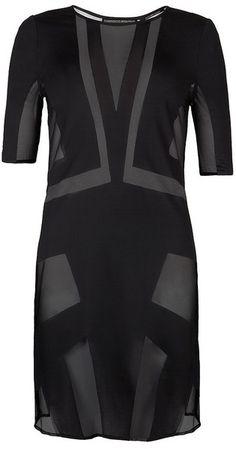 Allsaints Robyn Devore Dress in Black - Lyst