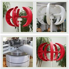 5 pairs of blades holes on the petiole and the holes on the hub to place the plate, screwing the hexagonal bolt (without tightening). Vertical Wind Turbine, Wind Power Generator, Red Lantern, Shape Design, Lanterns, Home Improvement, Home And Garden, Boat, Renewable Energy