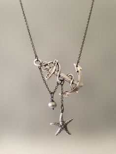 Lost+at+Sea+Necklace+by+SBC+Antique+Silver+by+sandybeachcollection,+$34.00