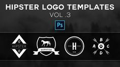 Free Hipster Logo Templates Vol.3