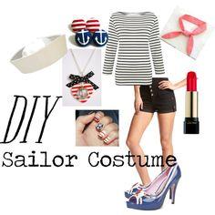 Diy sailor girl decoracion de eventos eventos y estilo diy sailor costume by lmgrisez on polyvore solutioingenieria Images