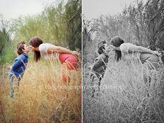 """fun mother/son posing and shooting through tall """"grass"""""""