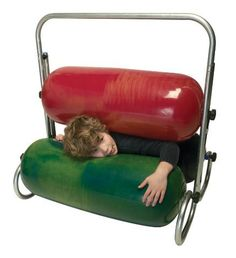 The Squeeze Machine from TFH provides deep proprioceptive input for children with sensory processing disorder caused by a range of conditions including Autism. Hug Machine, Preschool Set Up, Proprioceptive Input, Temple Grandin, Special Needs Toys, Autism Activities, Vestibular Activities, Sensory Therapy, Sensory Rooms