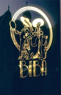 BIBA Logo. I still have a pack of mini playing cards with this logo :-)