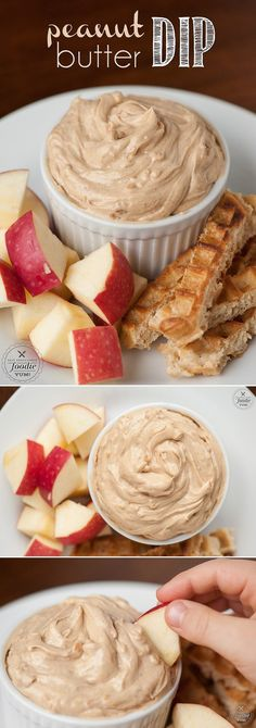 New & Unique dip for the fruit tray. Create an easy-to-make snack and pair apple slices, waffle sticks and celery with this kid-friendly Peanut Butter Dip treat. Peanut Butter Dip, Peanut Butter Recipes, Peanut Butter Waffles, Apple And Peanut Butter, Almond Butter, Low Carb Dessert, Dessert Dips, Dips Für Chips, Gourmet