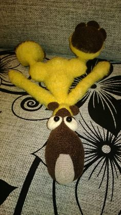 Project by Liudmila Lebedeva. Teddy Bear Potapchik with pyjamas.crochet pattern by Astashova for LittleOwlsHut #LittleOwlsHut, #Bear, #Astashova, #Amigurumi, #CrochetPattern, #DIY, #BearPotapchik