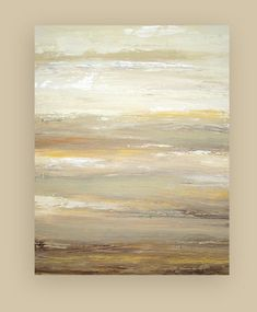 """I think abstract beachy is nice.   Original Abstract Art Titled: River Rock 24x30x1.5"""" by Ora Birenbaum"""