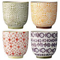 "3 mugs, ""Emma"" by Bloomingville"