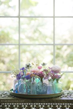 Reveling in the Beauty of Summer Flowers by Georgianna Lane http://georgiannalane.com/2014/09/windmills-and-windflowers.html