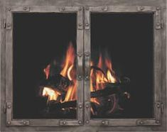 Old World Masonry Fireplace Door in Burnished Bronze premium finish Fireplace Screens, Glass Door, Glass Fireplace, Reface Fireplace, Fireplace Glass Doors, Fireplace Doors, Masonry Fireplace, Old World Style, Doors