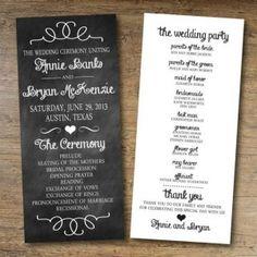 ideas for wedding programs