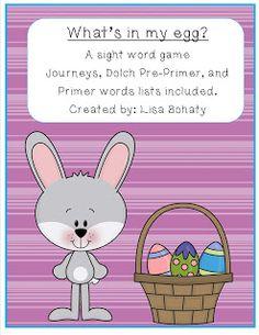 Mrs. Bohaty's Kindergarten Kingdom: What's in my egg? Freebie