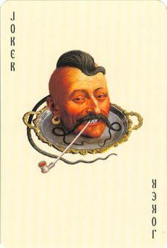 "Playing cards ""Hell Gonfalon"" by Ukrainian Artist-illustrator Vladislav Erko… Cool Playing Cards, Joker Playing Card, Custom Playing Cards, Joker Card, Playing Card Games, Vintage Playing Cards, Play Your Cards Right, Jokers Wild, Earl Moran"
