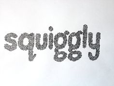 squiggly Handwritten typography 11.28.13 photo