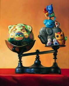 Stories with Toys::Michelle Waldele, fine art oil painter of representational, classical realism and vintage whimsy Antique Toys, Vintage Toys, Classical Realism, Still Life Oil Painting, Bachelor Of Fine Arts, Oil Painters, Various Artists, Art Oil, Antiques