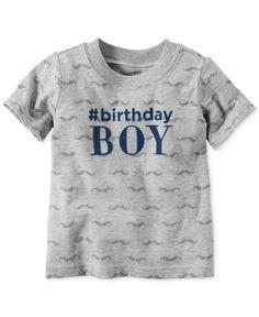 Carters Baby Boys Short Sleeve Birthday Boy T Shirt Kids