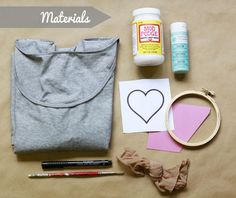 DIY Screenprint Tee ~ using an embroidery hoop, nylon stocking and Mod Podge to make a silk screen  (tutorial)