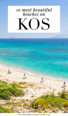 If you're a fan of long sandy beaches then you'll love the Greek island of Kos - its blessed with kilometres of the good stuff. Here are 10 of the best beaches on Kos that you shouldn't miss if you're on the island, including popular Tigaki, Mastichari, and Marmari. #kos #greekislands #greece #travel #europe #mediterranean #tmtb Top Travel Destinations, Europe Travel Guide, Spain Travel, Greece Travel, Amazing Destinations, Travel Guides, Places To Travel, Most Beautiful Beaches, Beautiful Places To Visit