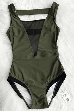 df3fe4d7e9c Cupshe Glad You Are Here One-piece Swimsuit Outfit Vestidos, Cute Swimsuits,  Cupshe