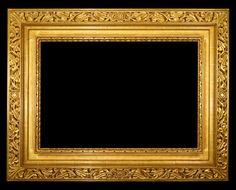 Hand carved gold frame