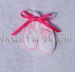 Ballet Slippers Feltie Embroidery Design