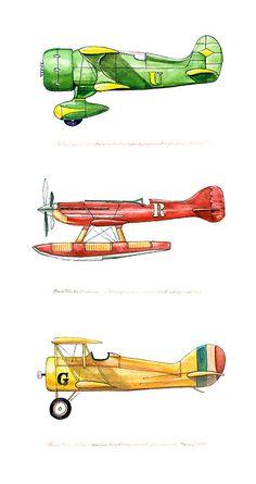 "Laird ""Super Solution"" vintage airplane watercolor print, 8""x10"". ◅. ▻"
