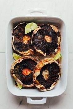 DELICIOUS Vegetable Quinoa Stuffed Portobello Mushrooms! 30 min, healthy, SO satisfying! #vegan #glutenfree #plantbased #vegetables #recipes #minimalistbaker
