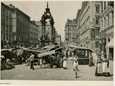 Vienna Hoher Markt 1900 Austrian Empire, Austro Hungarian, Sissi, Old Pictures, Hungary, Madness, Medieval, Photographs, Adventure