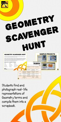 Geometry Project grades 5-8: Students find and photograph geometry terms and create a book