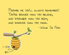 Promise me you'll always remember -- Winnie the Pooh quote. $18.00, via Etsy.