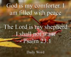Daily Word, Lord Is My Shepherd, Psalm 23, Peace, God, Dios, Room, The Lord