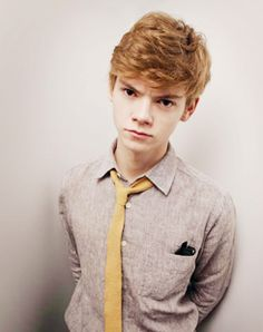 Thomas Sangster. Am I the only one who loves his eyebrows?! They make his expressions so much better!!! (Ex. He looks happier when he smiles)