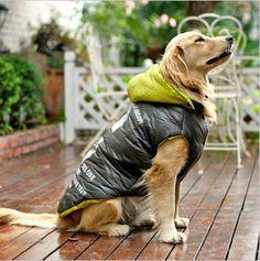 Cheap Para invierno perro grande arropa grandes ropa para ropa capa de la alta calidad de productos para mascotas chaqueta de algodón acolchado 1 unids/lote, Compro Calidad Chaquetas para perro directamente de los surtidores de China: &nb