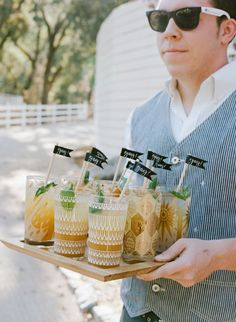Cocktail glasses: http://www.stylemepretty.com/2015/03/26/romantic-fall-durham-ranch-wedding/   Photography: Sylvie Gil - http://www.sylviegilphotography.com/