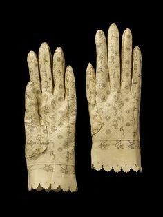 pair of gloves, ca.1800
