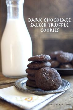 Dark Chocolate Salted Truffle Cookies