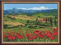 Riolis compté point de croix Kit Tuscany Italie paysage broderie broderie artisanale à la main, couture Set 100/001
