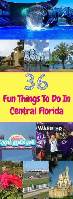 This post features over 35 fun Orlando attractions and things to do in Central Florida to help you plan your next perfect Central Florida family vacation.