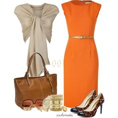 """""""Michael Kors for the Office"""" by archimedes16 on Polyvore...great fall colors & classy"""