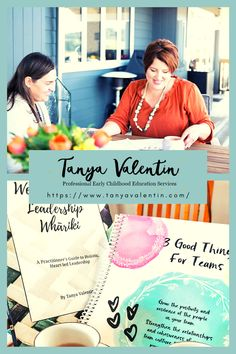 Tanya helps ECE centre leaders and managers lead with confidence, gentleness and strength. She's also authored a few books for ECE! We're so thankful we've got to work with Tanya on her business. (thank you Tanya!)