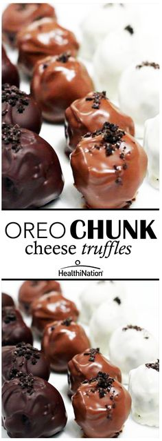 Watch how to easily make these amazing Oreo Chunk Cheese Truffles!: http://bit.ly/1NsNE8K