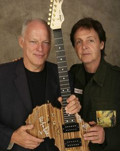 David Gilmour & Paul McCartney - what a great photo!